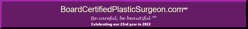 BoardCertifiedPlasticSurgeon.com banner leads to top plastic surgeons near you.